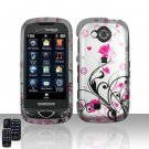 Pink Flowers Hard Snap On Cover Case for Samsung Reality U820