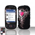 Heart Design Hard Snap On Cover Case for Samsung Seek M350