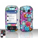 Colorful Flowers Hard Snap On Cover Case for Samsung Seek M350