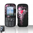 Pink Heart Snap On Cover Case for LG Cosmos VN250