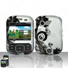 Black Flowers Hard Snap On Cover Case for LG Remarq LN240