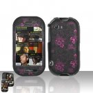 Purple Flowers Hard Case Cover for Mircorsoft Sharp Kin 2 Two