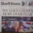 Minneapolis Star Tribune Obama Inauguration newspaper