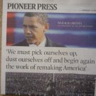 Pioneer Press Obama Inauguration Newspaper 1-21-2009 newspaper