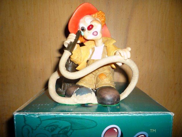 Slapstix clown 'What in blazes?'
