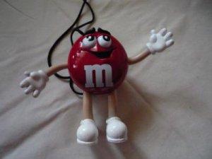 Red M&M mini AM/FM radio