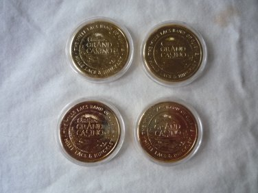 Grand Casino 1997-1998 Wildlife series IV collector coin set Mille Lacs Hinkley