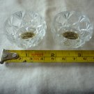 Vintage hand made Bohemia glass salt cellars/dipping Czech Republic (two)