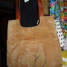 Vintage Fendi suede leather purse handbag tote