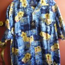 Caribbean Joe men's silk shirt XL