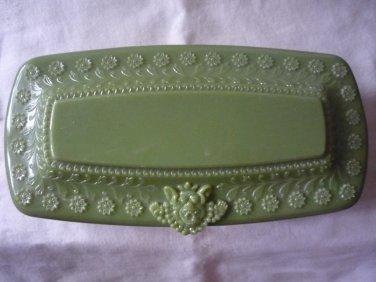 Vintage plastic jewelry trinket box