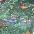 Game Bird Print-Cotton VINTAGE FABRIC 0.25 Yd