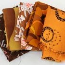 5 Pack Brown Tones FAT QTR Fat Qtr 18x18 FABRIC Fabric Cotton