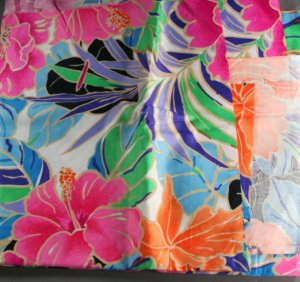 Vintage Fabric -Tropical Flower- FABRIC VINTAGE Cotton
