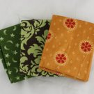 FAT QTR 3 Fat Quarters -Earth Tones- FABRIC Cotton