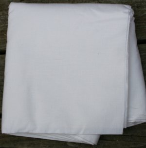 Vintage 60s-Jackie O Fashion-Linen Look White Poly/Blend Fabric 6 yds