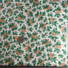 Xmas Pine/Holly-Fabric Trad.VINTAGE FABRIC 2.67 Yd 45""