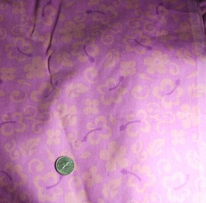 "Pink Mod Floral  Cotton VINTAGE FABRIC 1.67 Yd 45""W"