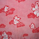 Japanese Kimono Red White Children Silk-VINTAGE FABRIC 122 x 14 Inches