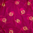 Gold Ball Ornament Screen Print Fabric COTTON FABRIC 3.27 Yd 44'Wide