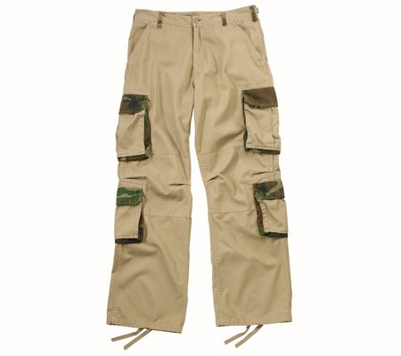 2136 ULTRA FORCETM VINTAGE KHAKI W/WOODLAND CAMO ACCENT FATIGUES SMALL