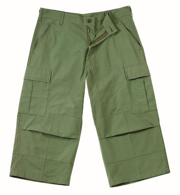8356 ULTRA FORCE  B.D.U. OLIVE DRAB CAPRI PANTS XSMALL