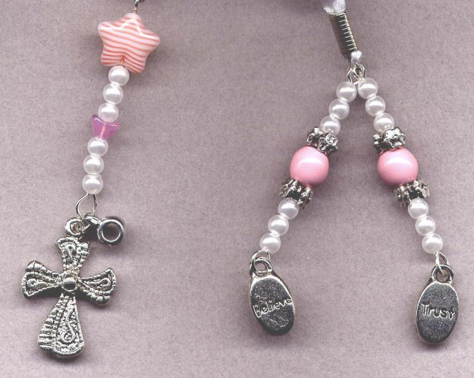 Bookmark Ribbon Beads Charm Cross 3