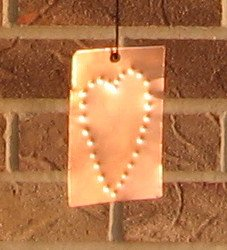 Wind Chimes Copper Cedar Tuned 36 inch Heart Sail Handmade by 1733 Shoppe