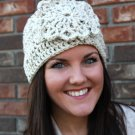 Headband Ear Warmer Crochet Head Wrap Ivory Tweed A1