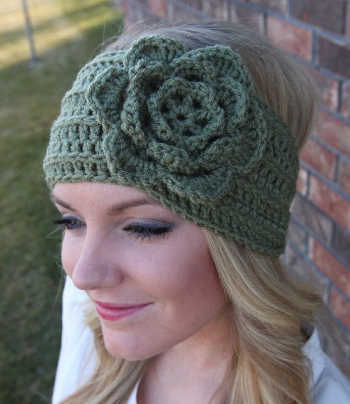 Free Crochet Patterns For Men s Ear Warmers : Free Head Wrap Crochet Headband Pattern ...