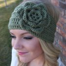 Headband Ear Warmer Crochet Head Wrap Green A2
