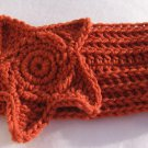 Headband Crochet Burnt Orange RidgeAround Star Ear Warmer Head Wrap A4