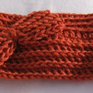 Headband Crochet Burnt Orange RidgeAround Bow Ear Warmer Head Wrap A5