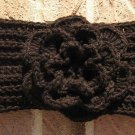 Headband Crochet Black RidgeAround Flower Ear Warmer Head Wrap A6