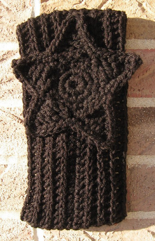 Headband Crochet Black RidgeAround Star Ear Warmer Head Wrap A7