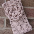 Headband Crochet Flower Linen UPDown Ear Warmer Head Wrap B10