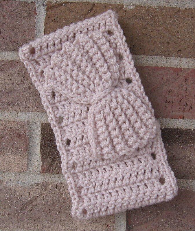 Headband Crochet Bow Linen UPDown Ear Warmer Head Wrap B11