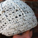 Crochet Hat Cap Ivory Tweed HAT3