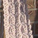 Crochet Scarf Double Cable Linen SA1