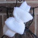 Headband Knit White Bow Ear Warmer Head Wrap G1