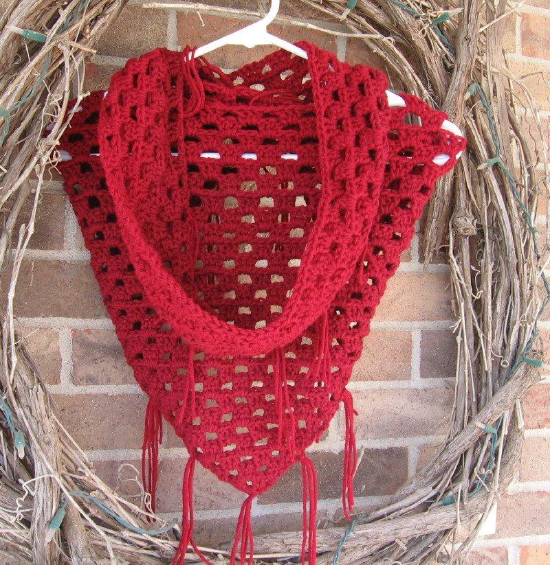 Crochet Pattern PDF - Granny Triangle Infinity Scarf Cowl Shawl - Electronic PDF file P3