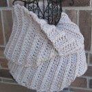 Crochet Infinity Scarf Cowl Linen Handmade Camel SJ1