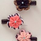 Animal Print flower clips U-Pick 2