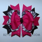 Zebra print Boutique bow