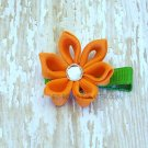 Pointed petal Kanzashi style bloom.