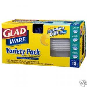 Glad 18 Piece Food Storage Microwave & Dishwasher Safe
