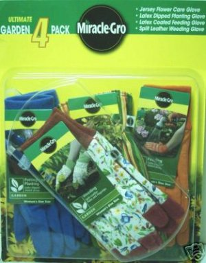 Miracle Grow Garden Gloves 4 Pack