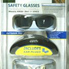 Safety Glasses One Color Lens One Clear With Case 2PK