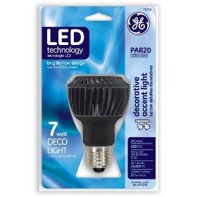 GE PAR20 7 Watt LED Lamp Highlight, Accent & Display Lighting
