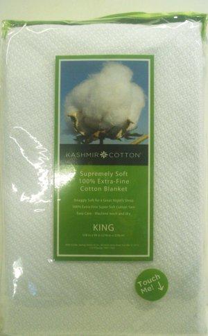 Blanket White Kashmir Queen Cotton